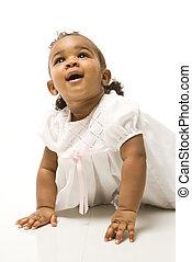 Portrait of infant girl.