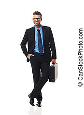 Portrait of intelligent business man