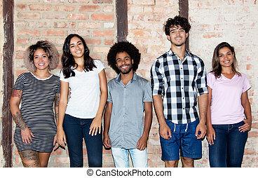 Portrait of international hipster group