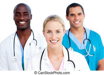Portrait of jolly doctors