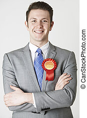 Portrait Of Labour Politician Against White Background