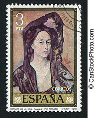 Portrait of Lady Canals by Pablo Picasso - SPAIN - CIRCA...