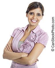 Portrait of latina businesswoman