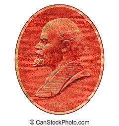 Lenin - Portrait of Lenin on a vintage Soviet Union banknote...