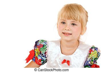 Portrait of little blonde girl