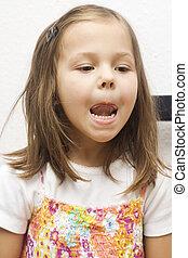 portrait of little girl m