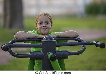 Portrait of little girl sitting