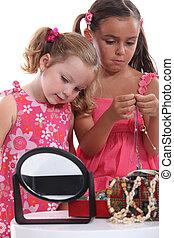 portrait of little girls