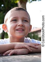 portrait of little smiling boy