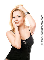 Portrait of lovely blonde