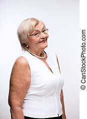 Portrait of lovely grandmother smiling