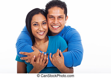 loving couple embracing - portrait of loving couple...