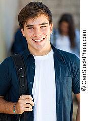 portrait of male high school student