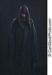 Portrait of man in a black robe - Portrait of a Man in a...