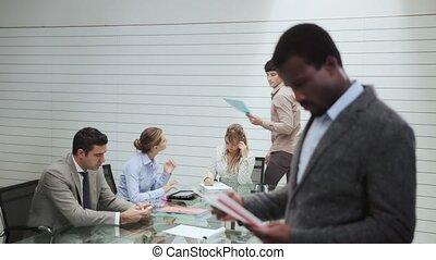 portrait of man in meeting room