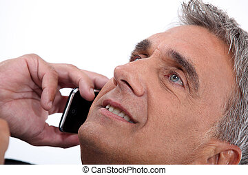 Portrait of man on the phone