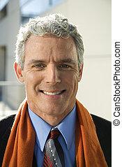 Portrait of man. - Close up of prime adult Caucasian man in...