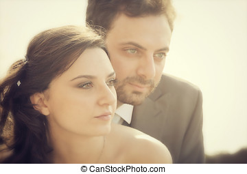 Portrait of married couple