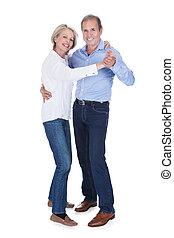 Portrait Of Mature Couple Dancing - Happy Mature Couple...