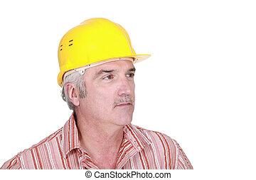 portrait of mature foreman