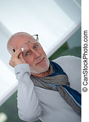 portrait of mature man with glasses