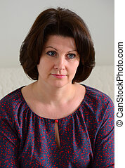 portrait of middle-aged brunette woman
