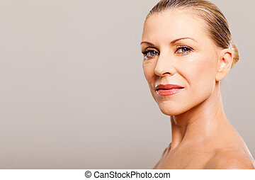 portrait of middle aged woman - beautiful middle aged woman...