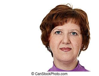 portrait of middle-aged woman closeup