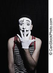 Portrait of mime