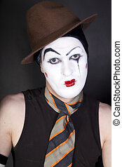 mime on black background