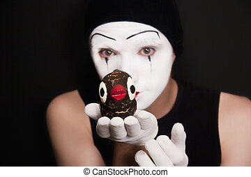 mime with toy birds