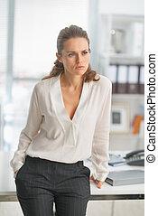Portrait of modern business woman in office