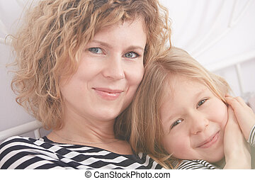 Portrait of mom and daughter