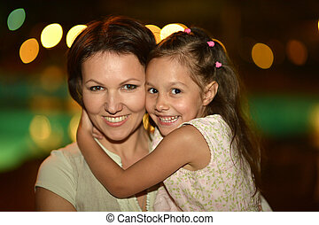 Portrait of Mother with daughter