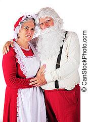 Portrait of Mr. and Mrs. Santa - Three-quarter length ...