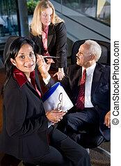 Portrait of multi-ethnic businesspeople in boardroom