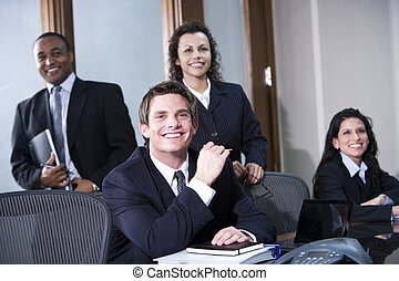 Portrait of multi-ethnic office co-workers
