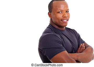 portrait of muscular african man