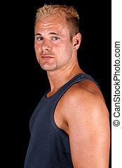 portrait of muscular bodybuilder
