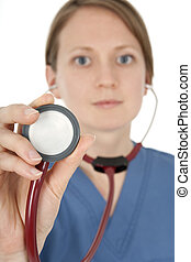 Portrait of nurse with stethoscope