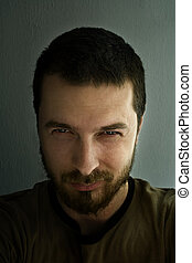 Portrait of ominous man