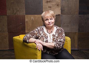Portrait of optimistic pensioner
