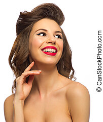 Portrait of pinup girl