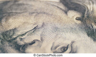 Portrait of President Benjamin Franklin on a Hundred Dollar...