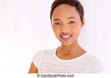 african american woman closeup