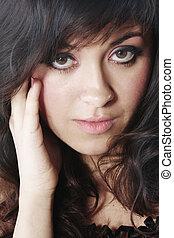 Portrait of pretty brunette