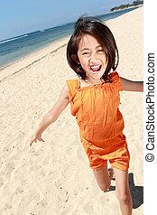 girl running in the beach