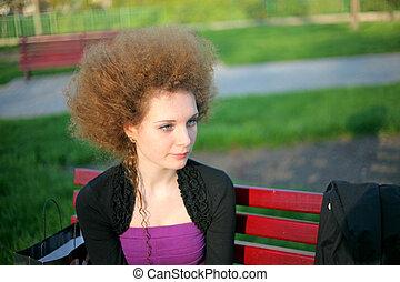 portrait of pretty redhead girl