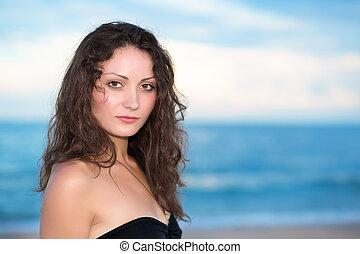 Portrait of pretty young brunette