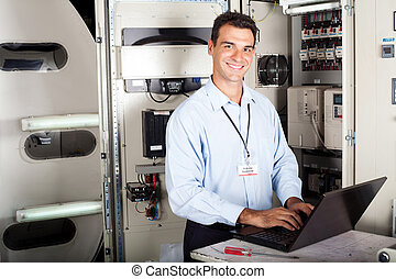 professional industrial technician - portrait of...